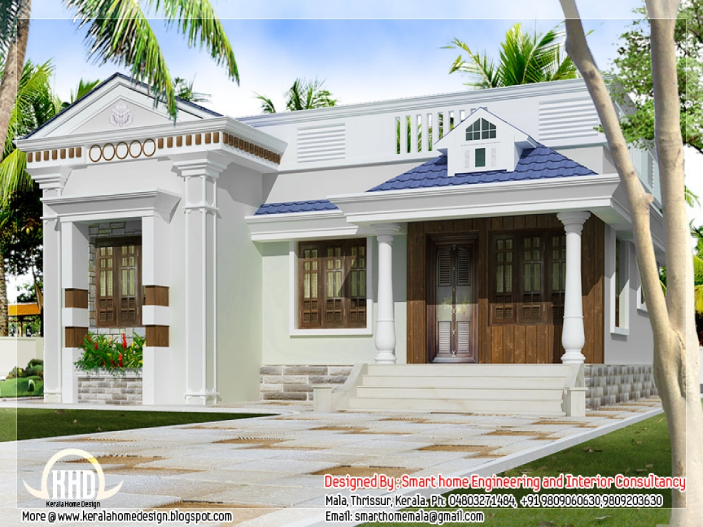 House Design One Floor One Story Bungalow Floor Plans Kerala Style Single Storey