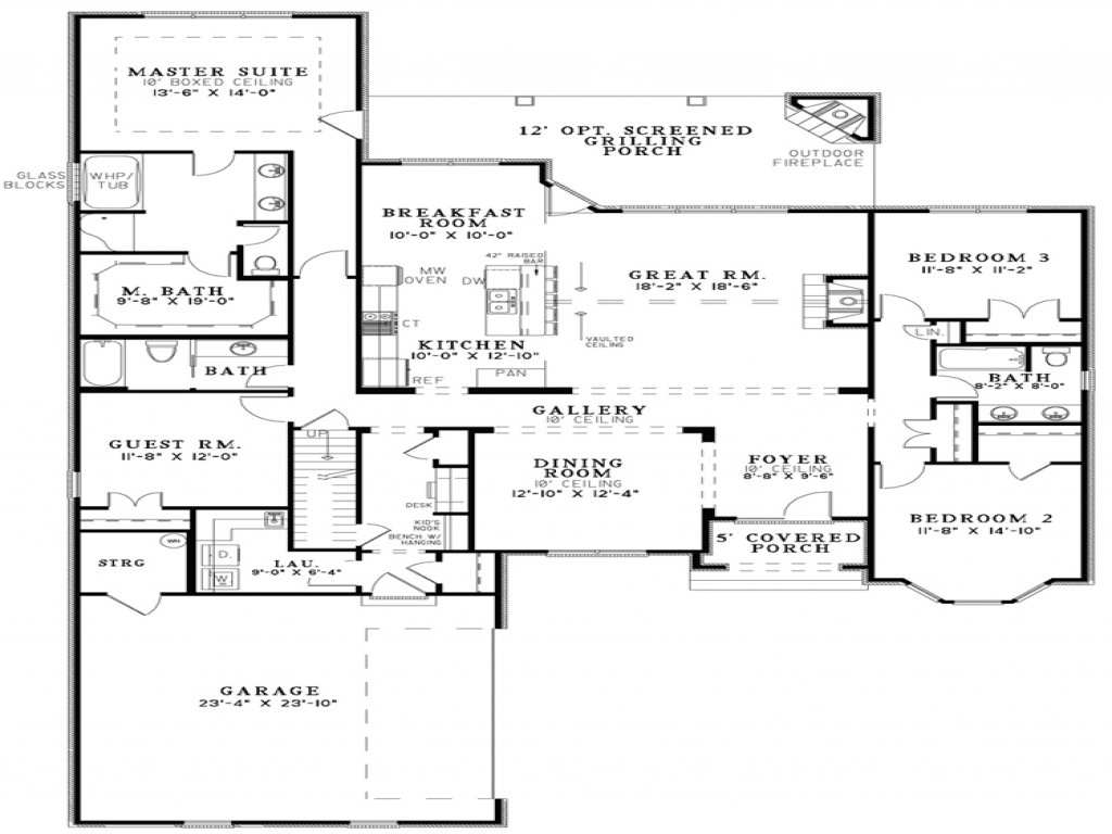 Small Kitchen Floor Plan Ideas Open Floor Plan House Designs Floor Plans Open Kitchen And
