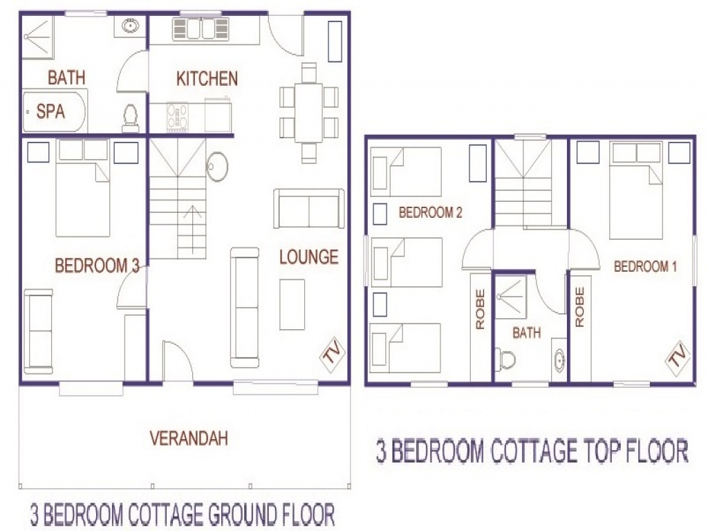 Small 3 Bedroom House 3 Bedroom Ranch Cottage 3 Bedroom Cottage House Plans