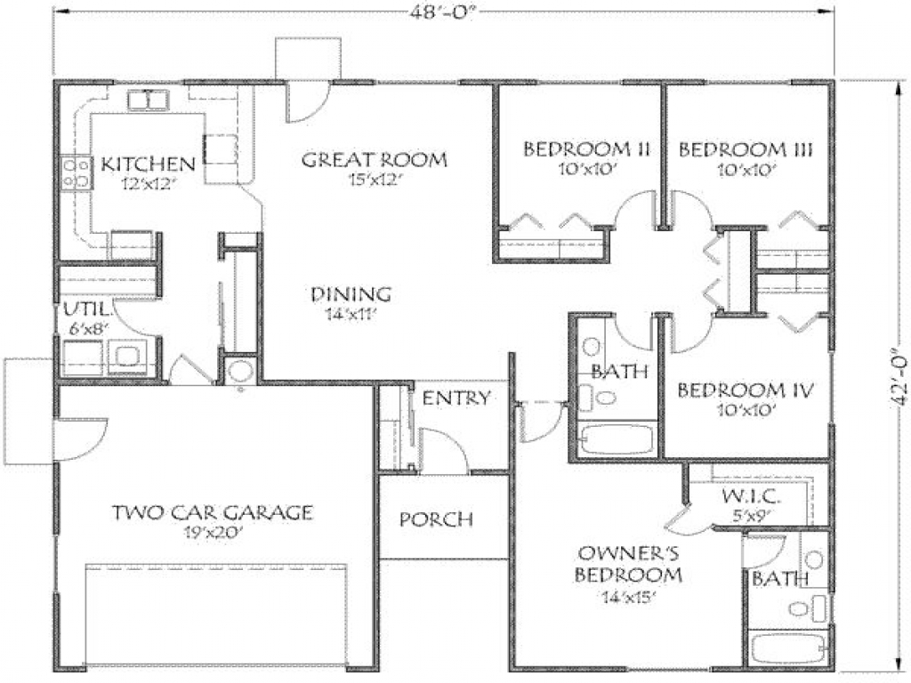 1500 Square Feet House Plans Open Floor Plans Under 1500 1500 Square Foot House Floor