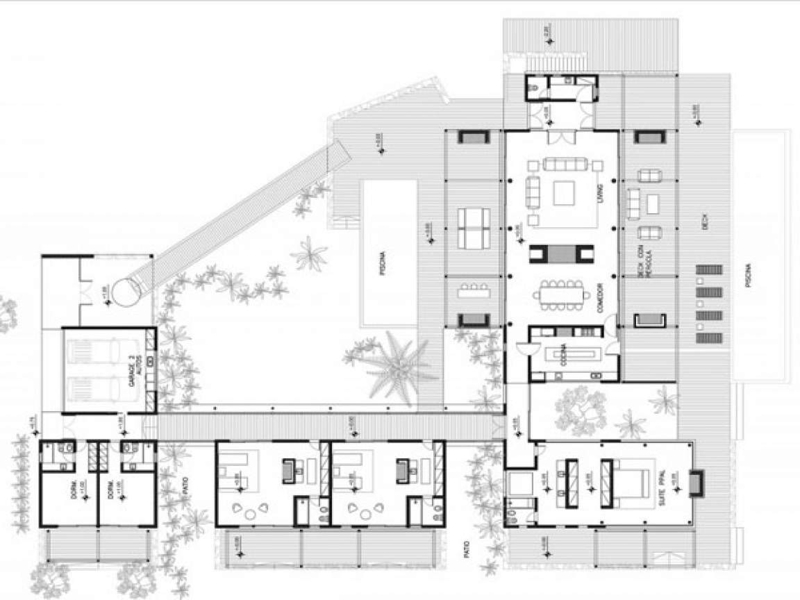 Modern Homes Floorplans Concrete Modern House Plans Modern Beach House Plans