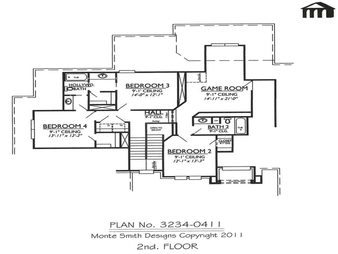 2 Bedroom Modern House Plans House Floor Plan 2 Story 4 Bedroom Garage Modern House