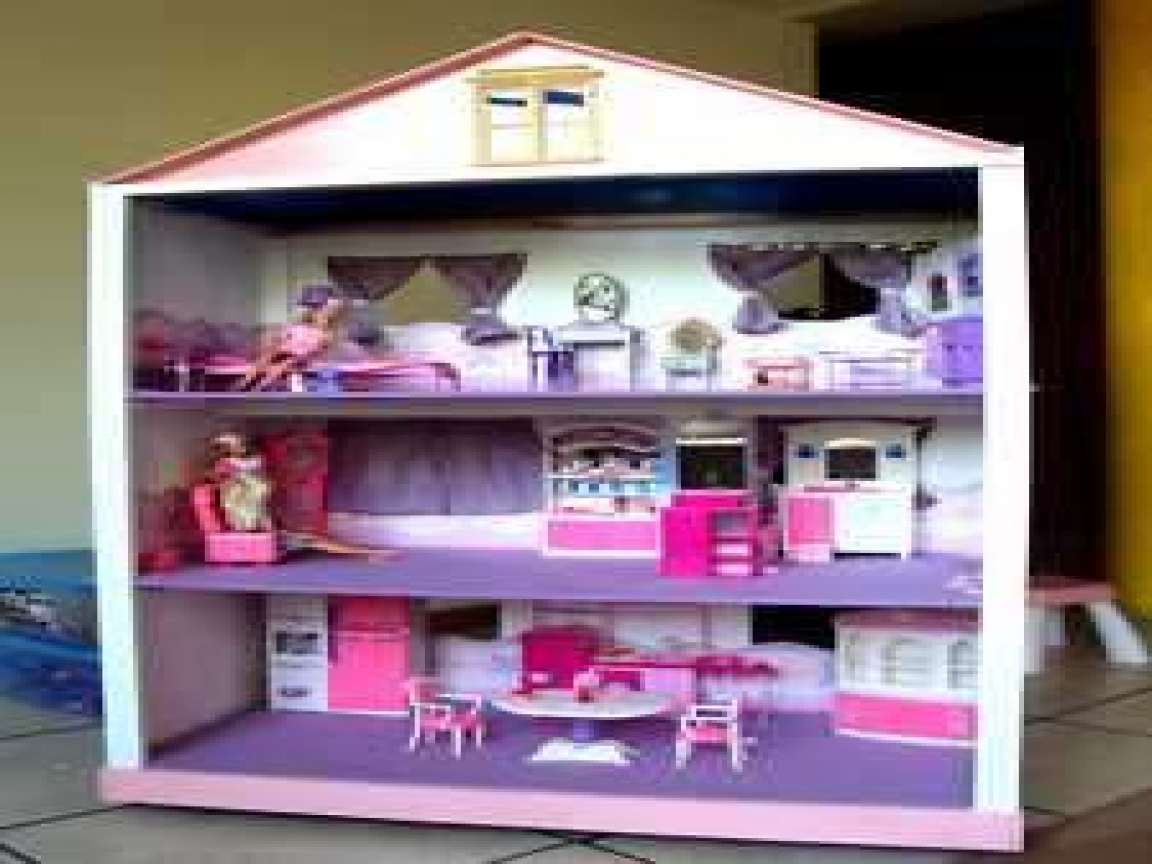 Barbie House Design Barbie Doll House Plans To Build Homemade Barbie House