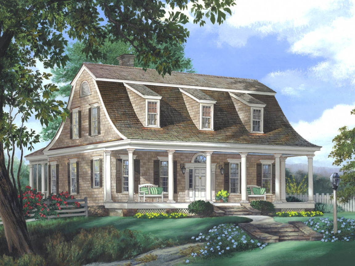 Eric Moser Farmhouse Plans Greek Revival House Style Dutch Colonial Style House Plans