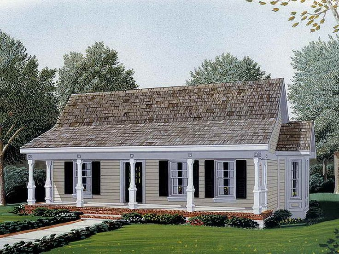 French Country Small House With Wrap Around Porch Small Country Style House Plans Country Style House Plans