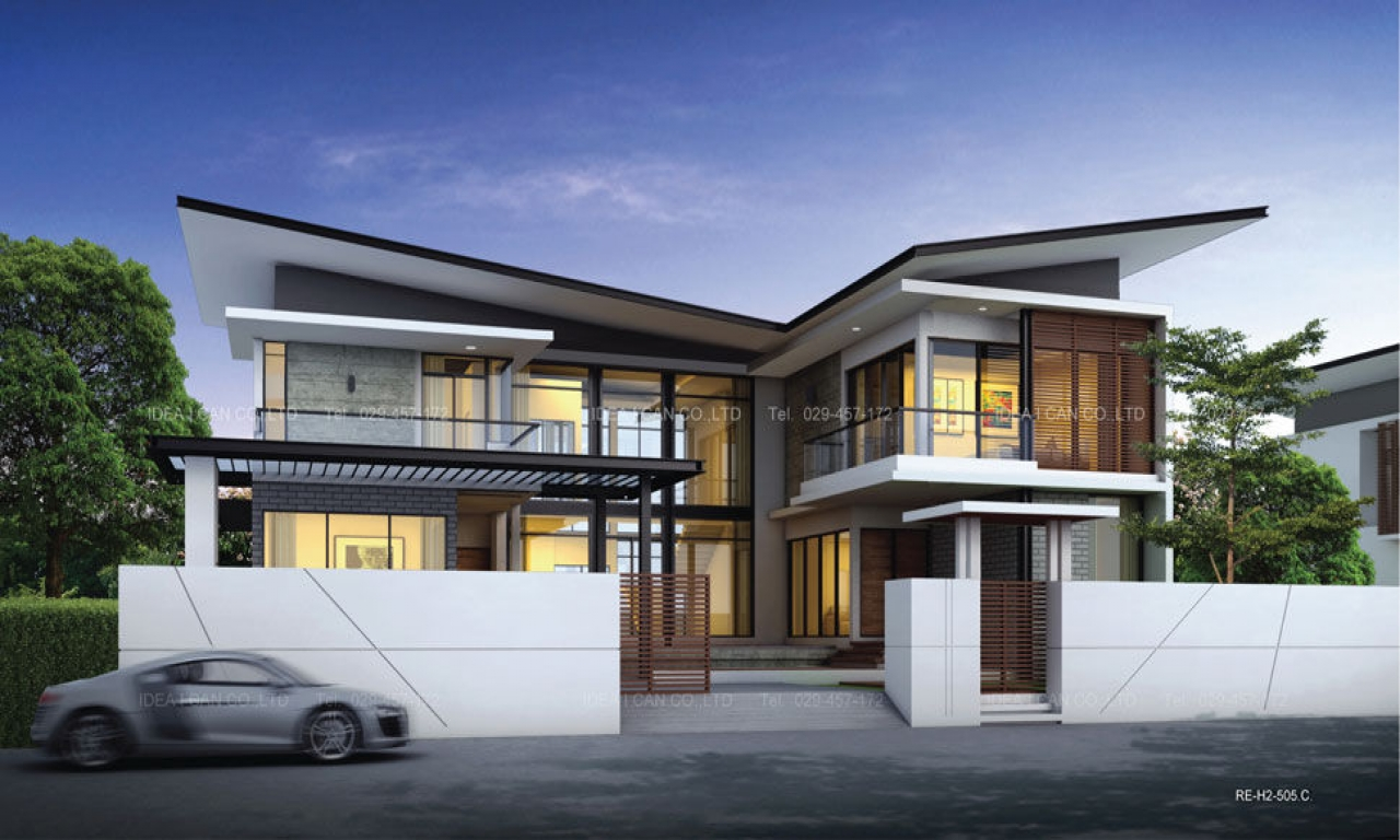 Modern Double Storey Houses One Storey Modern House Design Modern Two Storey House