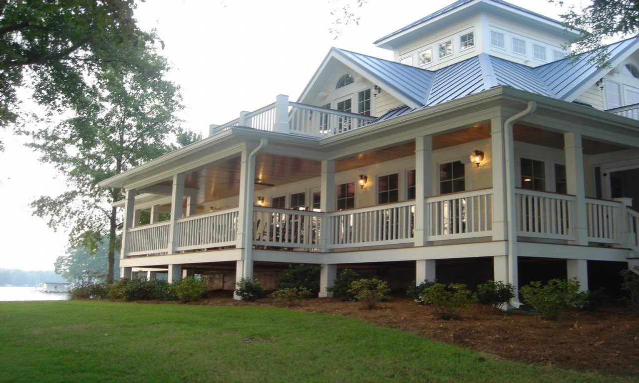 French Country Small House With Wrap Around Porch Cottage House Plans With Wrap Around Porches French