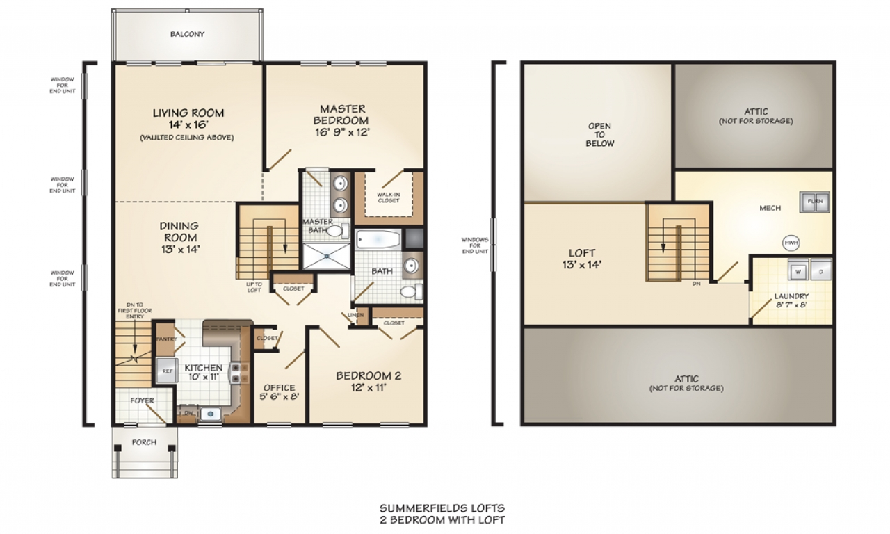 Loft House Plan 2 Bedroom Floor Plan With Loft 2 Bedroom House Simple Plan
