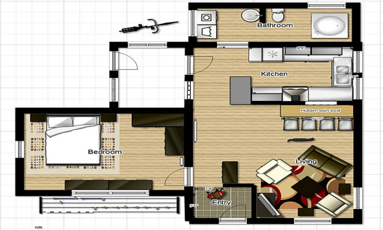 One Room Floor Plans Very Small Country Homes Small One Bedroom House Floor