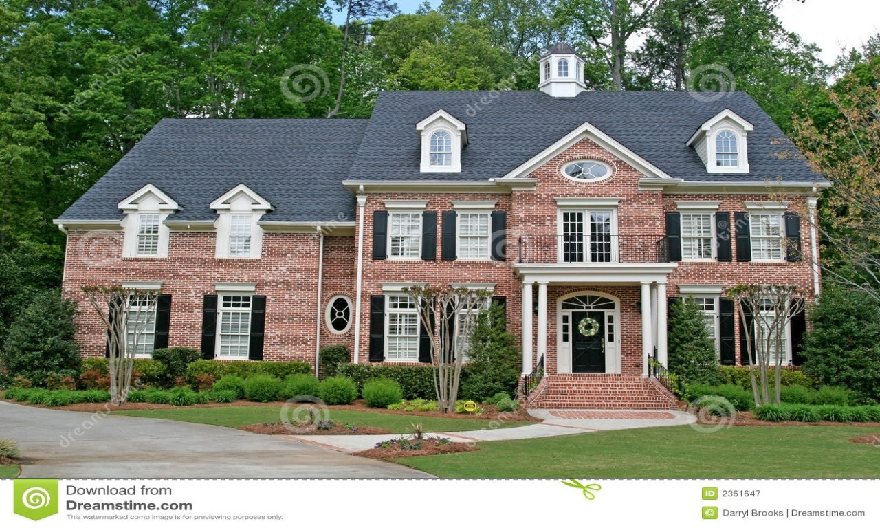 Beautiful Two Story House 2 Story Brick Homes Two Story Brick House Beautiful 2