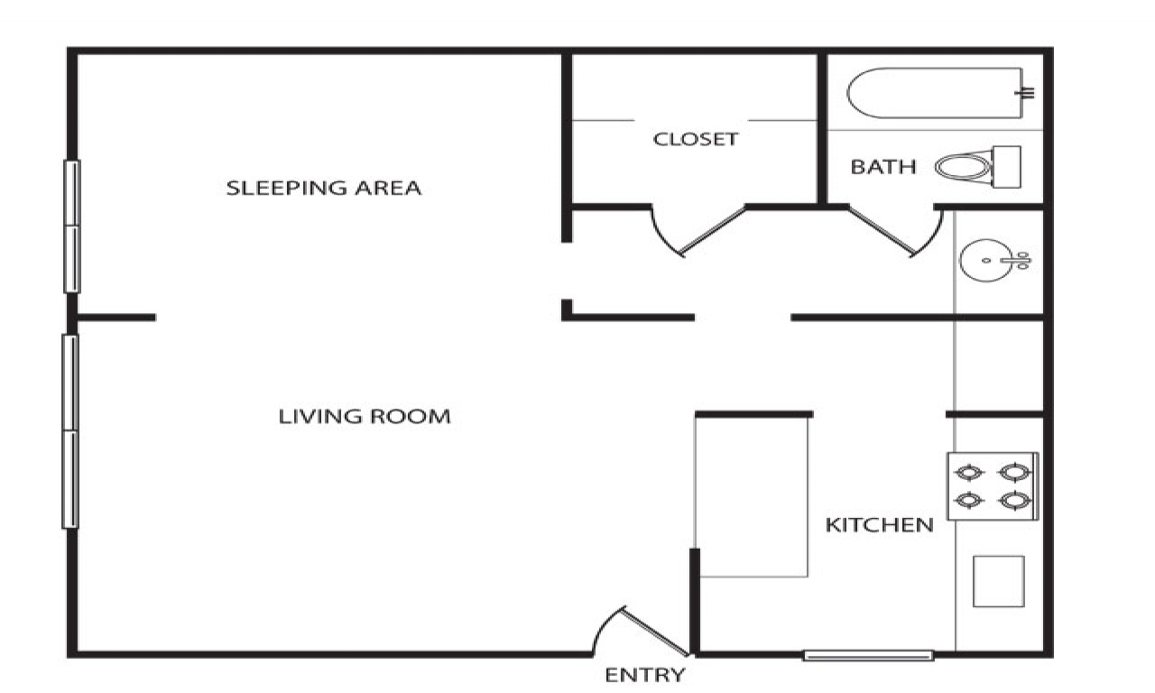 600 Sq Ft Apartment 600 Sq Ft Apartment Floor Plan 500 Sq Ft Apartment Layout