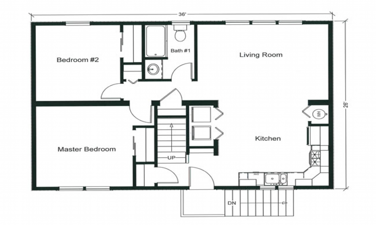 2 Bedroom Design Small House 2 Bedroom Apartment Floor Plan 2 Bedroom Open Floor Plan