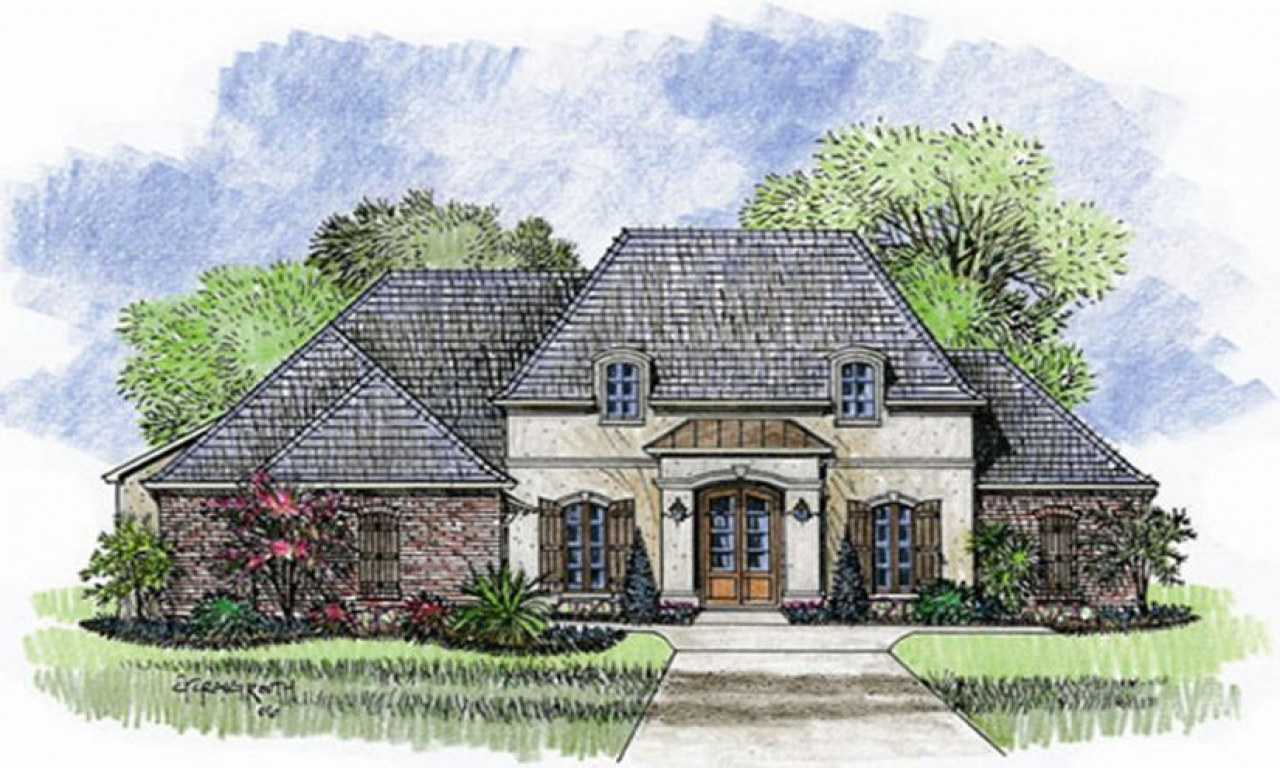 French Country Home One Story House Plans French Country One Story French