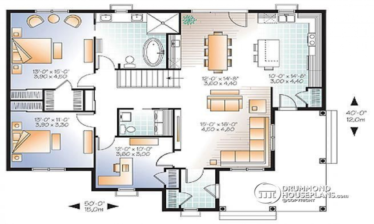 Bedroom Floor Layout 3 Bedroom Open Floor Plan 3 Bedroom House Plans With Two