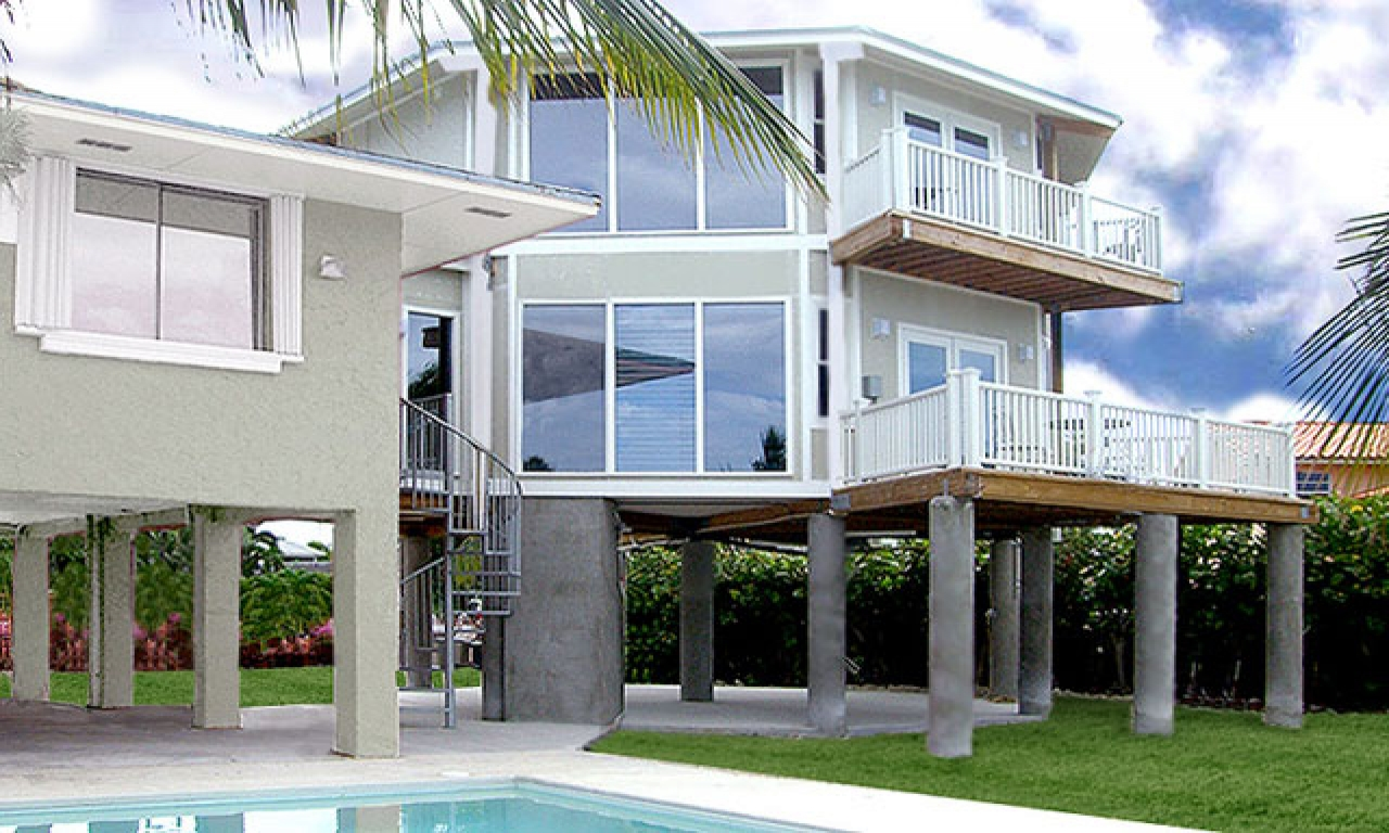 Beautiful Two Story House Florida Two Story House Plans Stilt Beautiful Two Story