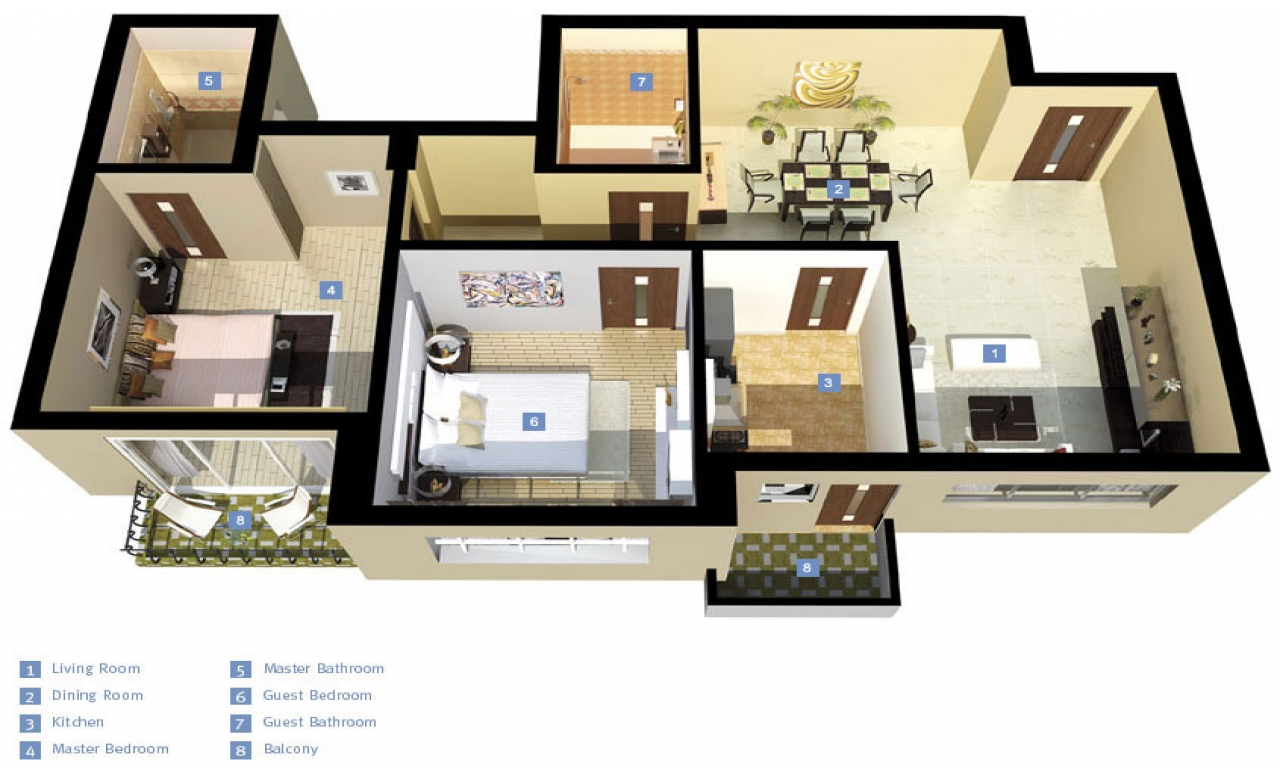 Small 3 Bedroom House 3d 3 Bedroom Houses Exterior 3d 3 Bedroom House Plans