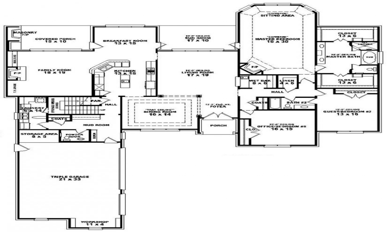 1 Bedroom 2 Bathroom House Plans Floor Plans For 3 Bedroom 2 Bath House 3 Bedroom 2 Bath