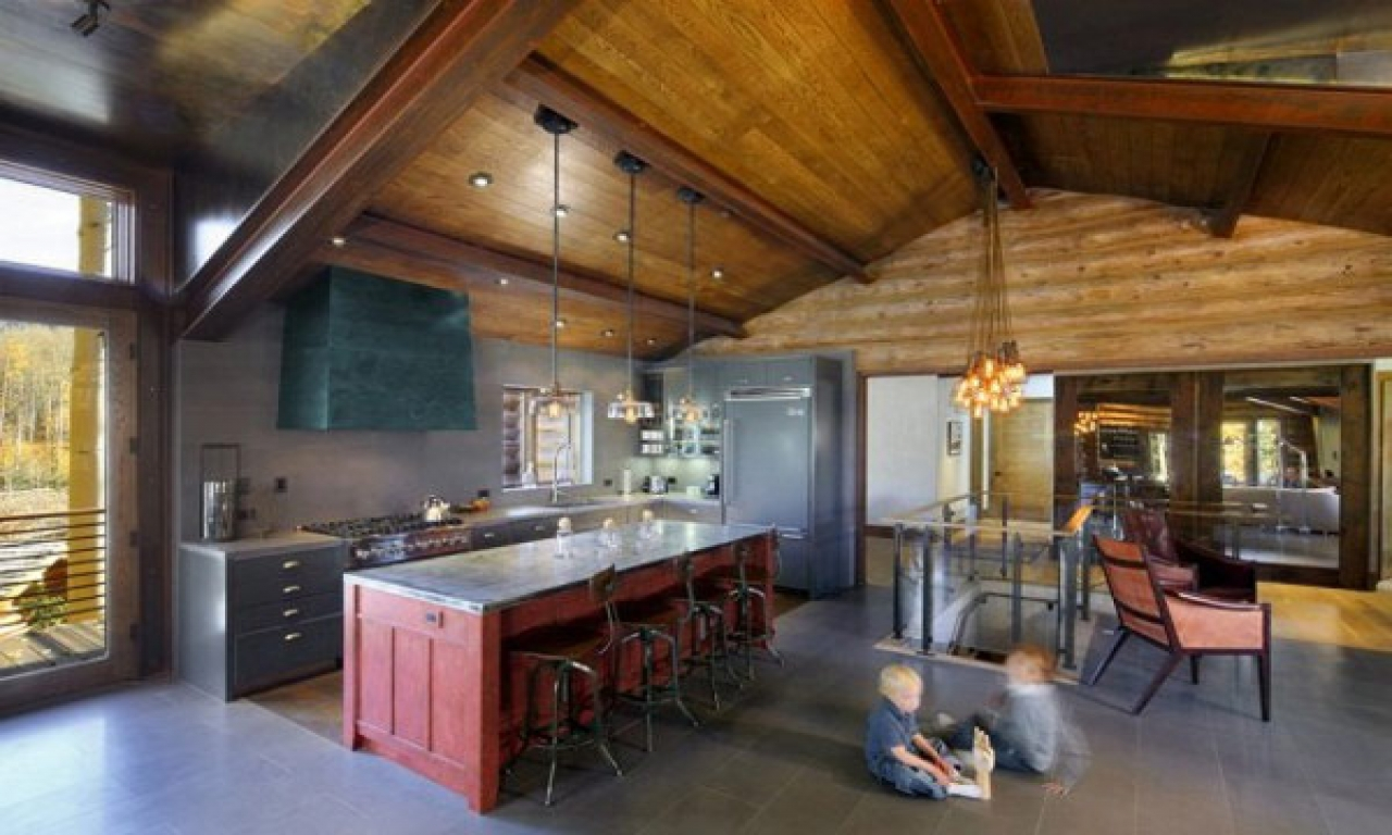 Modern Cabin Decor Modern Rustic Cabin Kitchen Diy Cabin Kitchen Mountain