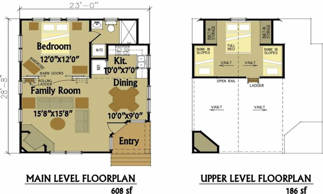 Loft House Plan Small Cabin Floor Plans With Loft Shed Plans Runin Sheds