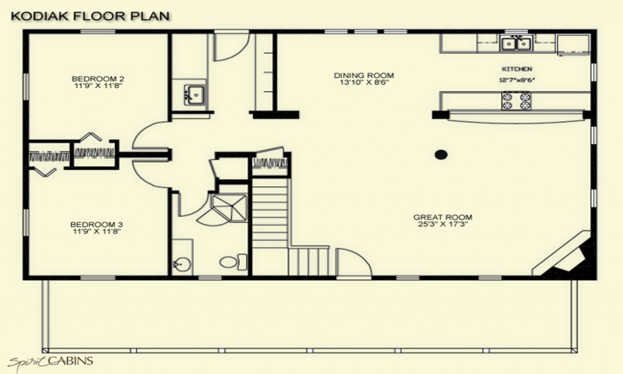 Loft House Plan Kodiak Loft Spirit Cabins Modular Log Homes Kodiak Island
