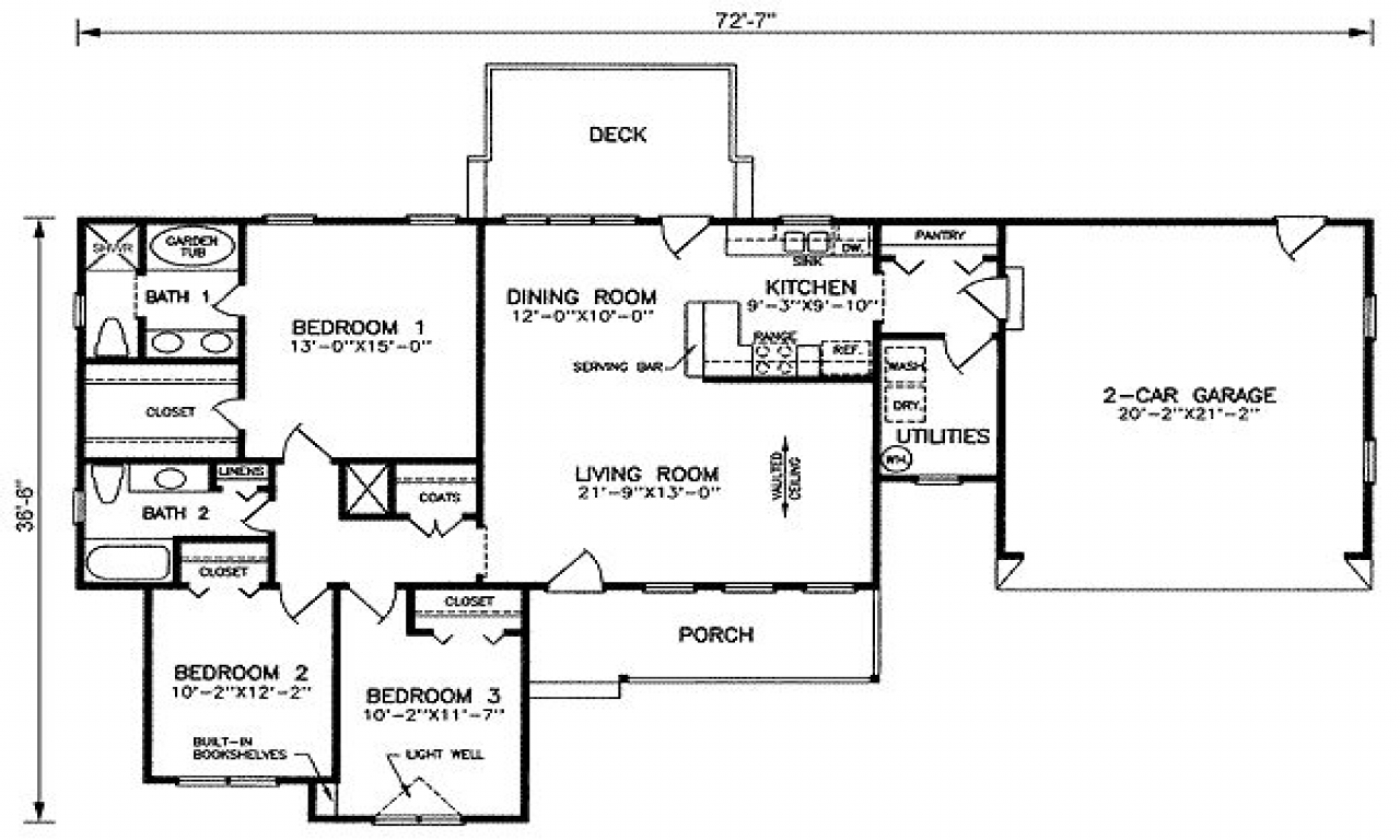 1500 Sq Ft House Plans Open Floor Plan House Plans 1500 Sq Ft 1500 Square Feet