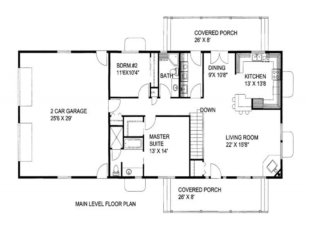 1500 Square Feet House Plans 1500 Square Foot House Plans 2 Bedroom 1300 Square Foot