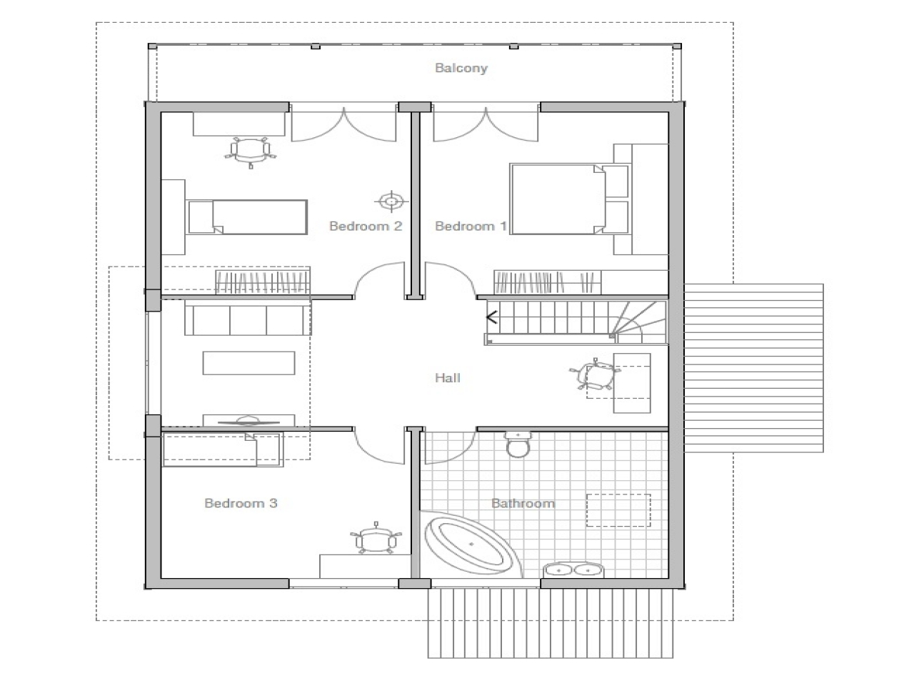 2 Bedroom Design Small House Small Affordable House Plans Small Two Bedroom House Plans