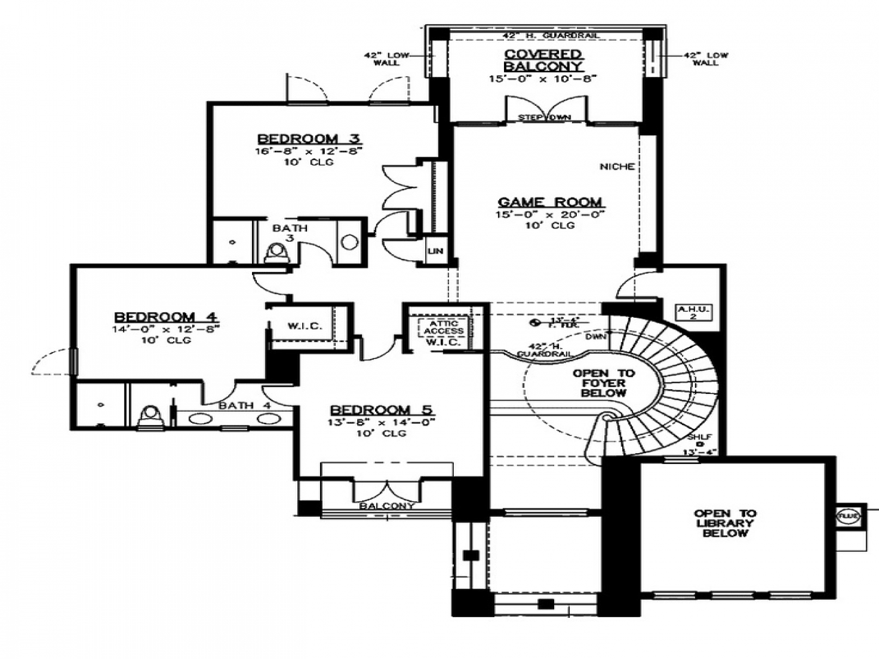 2nd Floor House Plans Blueprints For Houses With Open Floor Plans Floor Plan 2nd