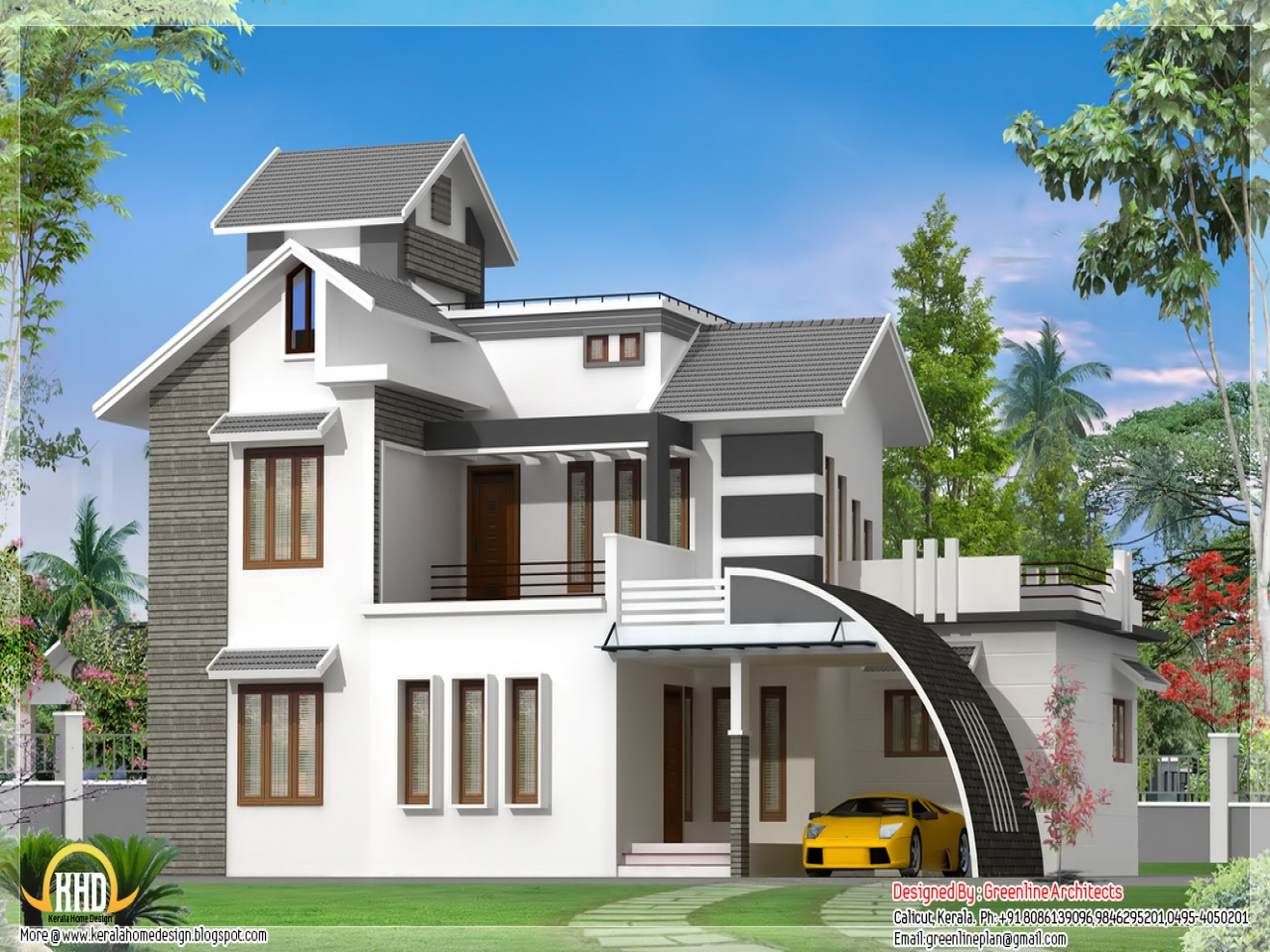 Indian Bungalow House Modern Minimalist Home Design