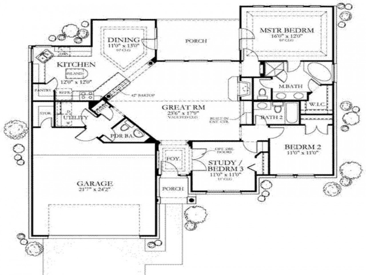 Houses Under 1500 Square Feet 1500 Sq Ft House Floor Plans 1500 Sq Ft One Story House