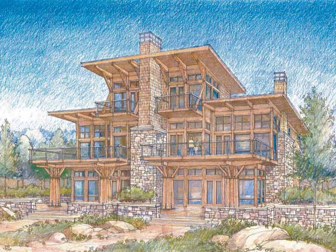 Modern Lake House Designs Waterfront Luxury Home Plans Modern Waterfront House Plans