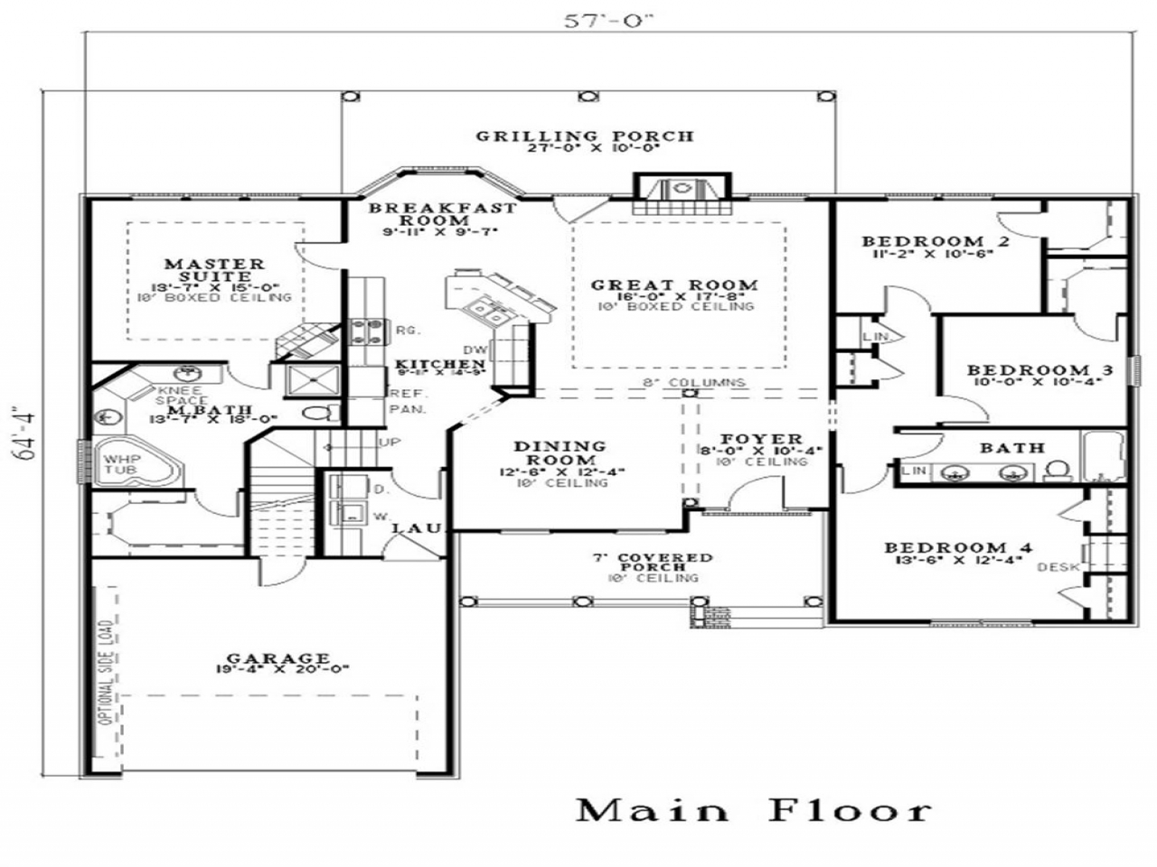 Height Of A House House Floor Plans With Dimensions House Floor Plans With