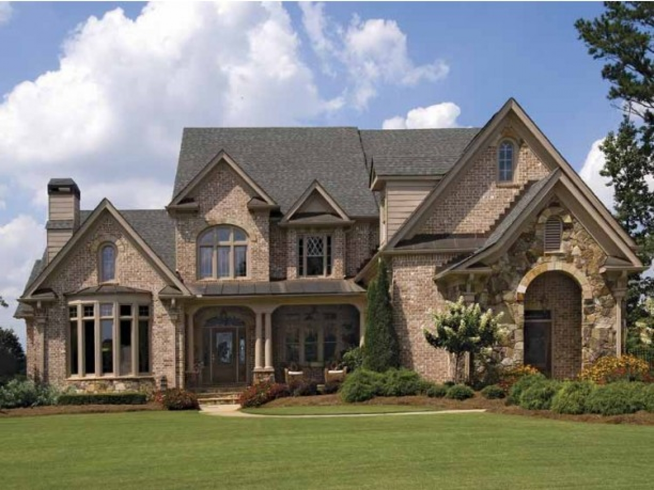 French Country Home Brick French Country House Plans French Country Homes