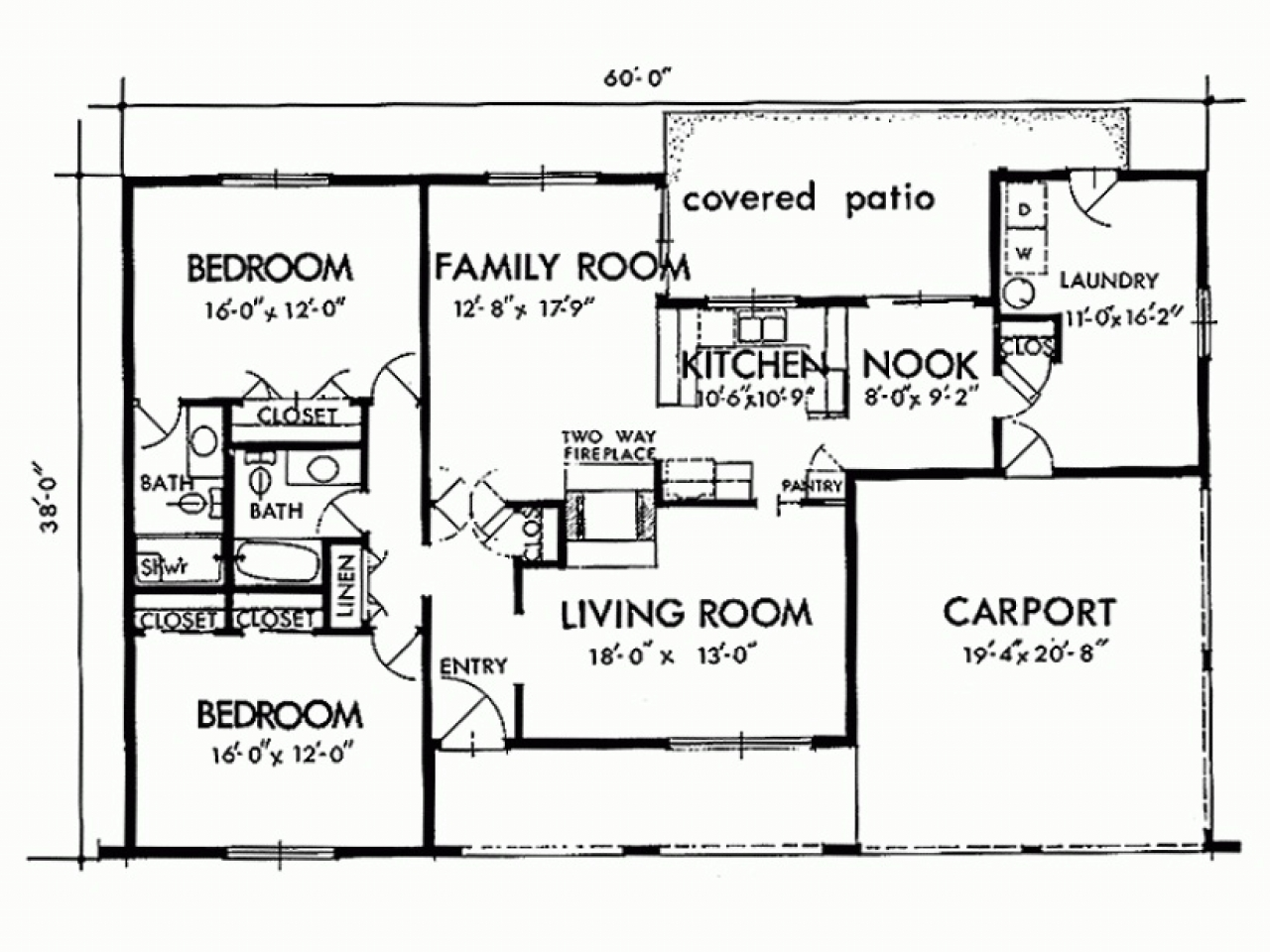 Simple 3 Bedroom House Plan Two Bedroom House Simple Plans Three Bedroom House Plans