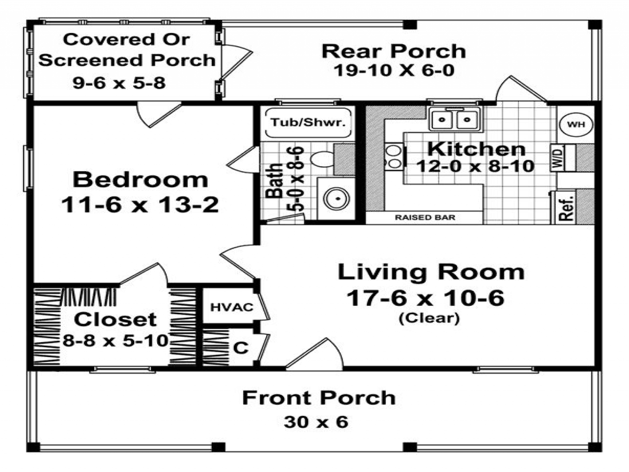 600 Square Ft House Plans Small Ranch House Plans Small House Floor Plans Under 600