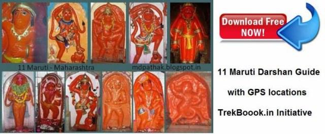 11 Maruti temples akara hanuman darshan India