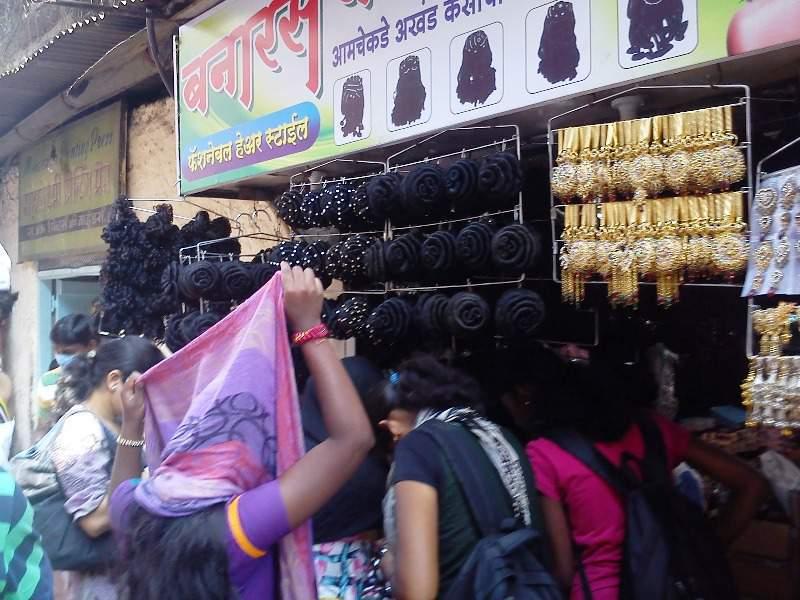 artificial hairs tulsi baug shop