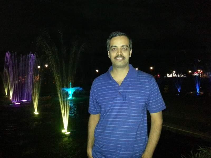 Night views of Pu La Deshpande Garden Pune