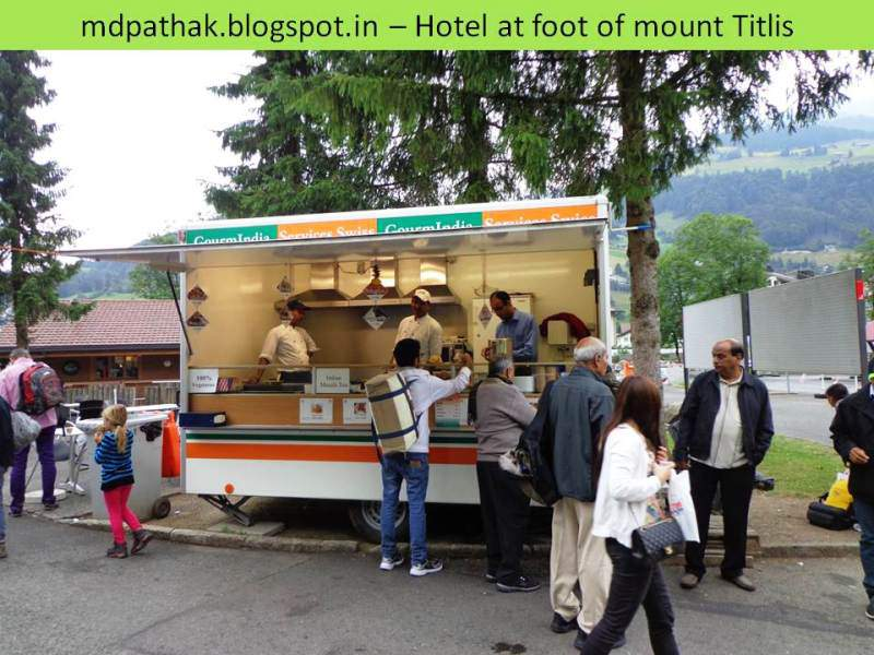 Indian hotel at the foot of mount titlis