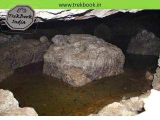 water inside caves of Kalyangad Fort, Nandgiri Village, Satara