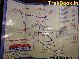 Map to Hallikere water cistern - Halebidu
