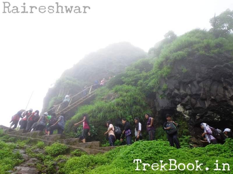 Raireshwar ladder to climb