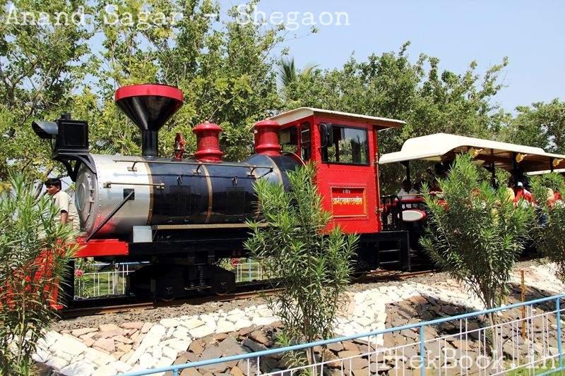 mini railway at anand sagar
