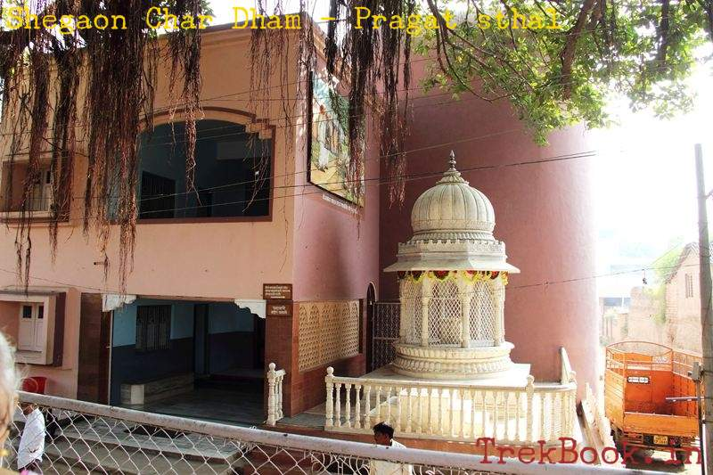 shegaon char dham gajanan maharaj pragat sthal paduka