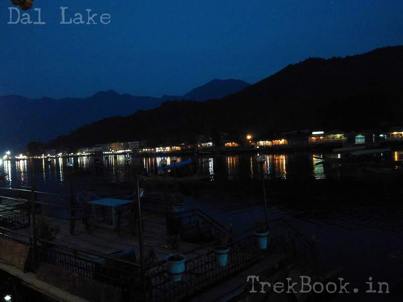 night views dal lake