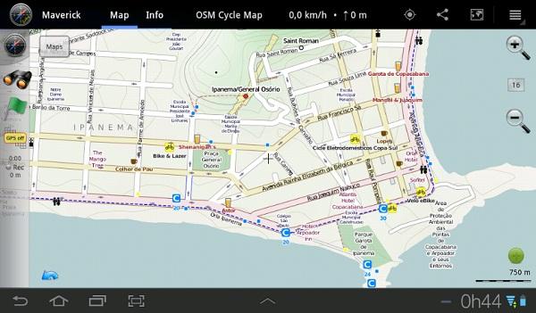 Maverick  mapa para ciclistas