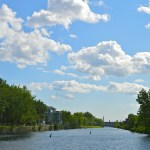 Biking Canal Lachine in Montreal