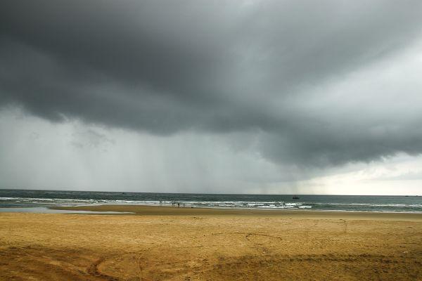 Betul Beach as the rain approaches