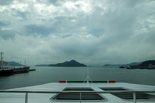 I started the final leg of the long trip from Kyoto to Naoshima, with a ferry ride from Uno.