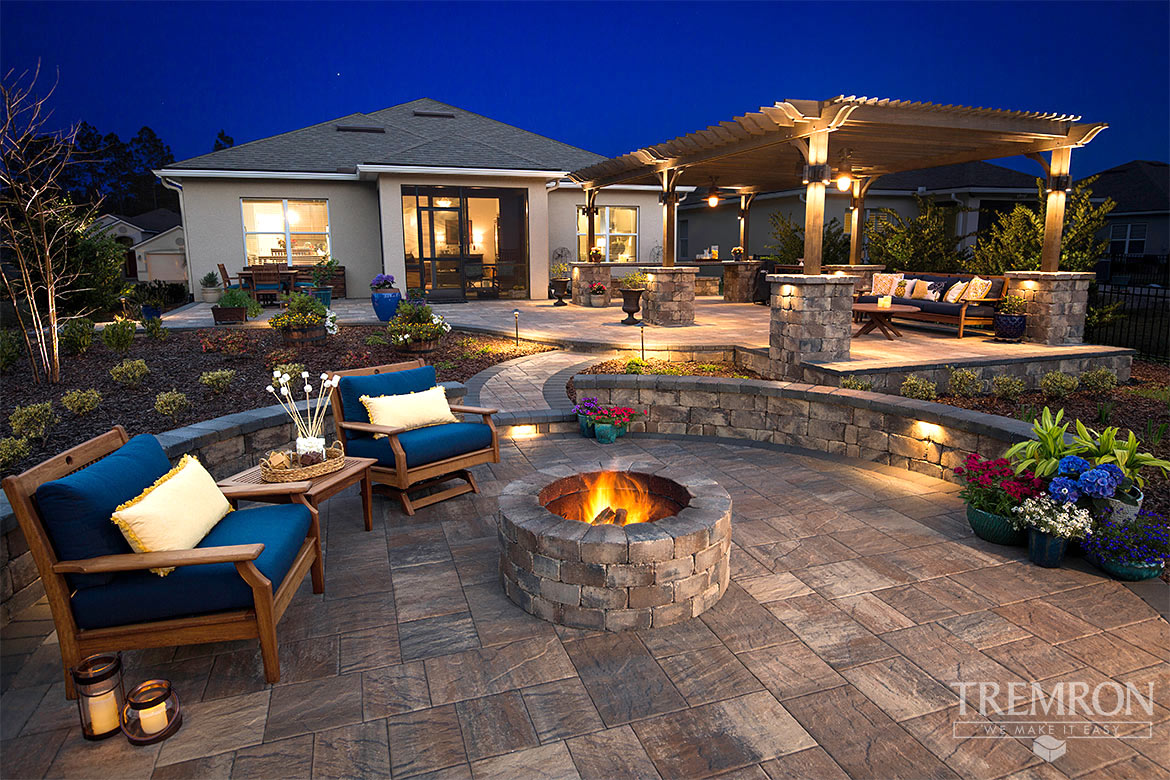 Fireplace Remodel Jacksonville Fl Featured Project Templehurst Pavers Munich Fire Pit